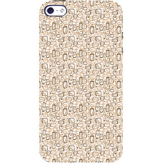 ifasho single color rectangle and circle and dots Pattern Back Case Cover for Apple iPhone 5