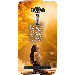 ifasho young Girl with quote Back Case Cover for Asus Zenfone 2 Laser ZE601KL