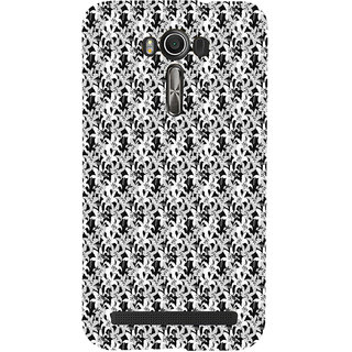 ifasho Animated Pattern black and white jasmin flower Back Case Cover for Asus Zenfone 2 Laser ZE601KL
