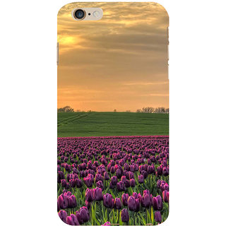 ifasho green Grass and purple flower at sunset Back Case Cover for Apple iPhone 6S Plus