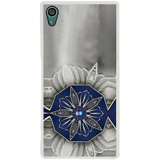 ifasho Animated Pattern design black and white diamond in royal style Back Case Cover for Sony Xperia Z5
