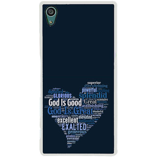 ifasho Quotes on God inside a heart Back Case Cover for Sony Xperia Z5
