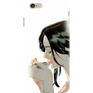 ifasho Girl kissing squirrel Back Case Cover for Apple iPhone 6S Plus