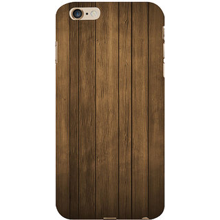 ifasho Brown Wooden Pattern Back Case Cover for   6S Plus
