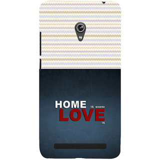 ifasho Home is where love is quote Back Case Cover for Asus Zenfone 5