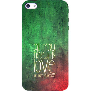 ifasho Love Quotes for love and chocolate Back Case Cover for Apple iPhone 5