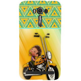 ifasho baby riding bike animated design Back Case Cover for Asus Zenfone 2 Laser ZE601KL