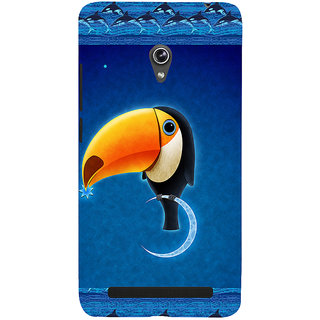 ifasho Bird sitting on moon animated design Back Case Cover for Asus Zenfone 5