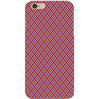 ifasho Colour Full Square Pattern Back Case Cover for Apple iPhone 6S Plus