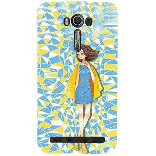 ifasho Skinny girl Back Case Cover for Asus Zenfone 2 Laser ZE601KL