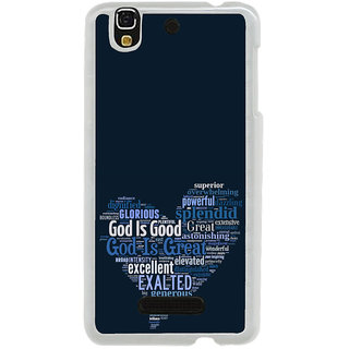 ifasho Quotes on God inside a heart Back Case Cover for Yureka