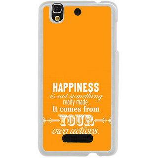 ifasho Faith  Quote on happiness Back Case Cover for Yureka
