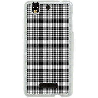 ifasho Modern Theme of black and white Squre lines Back Case Cover for Yureka