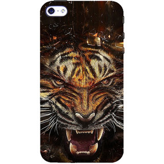 ifasho Roaring Tiger  Back Case Cover for Apple iPhone 5