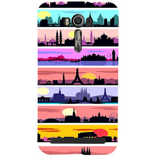 ifasho Modern Art Design Pattern tower temple building Back Case Cover for Asus Zenfone 2 Laser ZE601KL