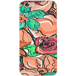 ifasho Animated Pattern colorful rose flower with leaves Back Case Cover for Apple iPhone 6S Plus