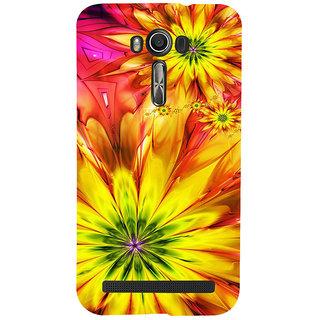 ifasho Flower Design multi color Back Case Cover for Asus Zenfone 2 Laser ZE601KL