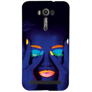 ifasho Girl with shining eyes and lips Back Case Cover for Asus Zenfone 2 Laser ZE601KL