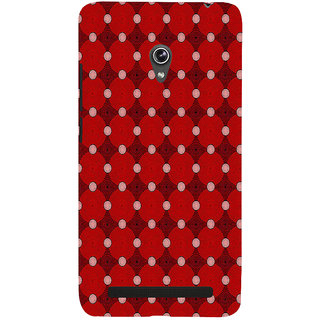 ifasho Design Clourful red and white Circle Pattern Back Case Cover for Asus Zenfone 5