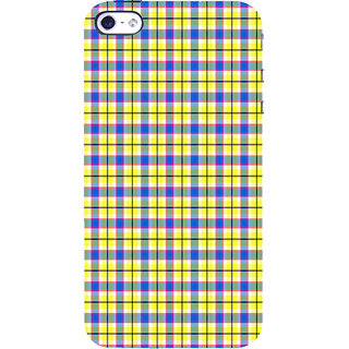 ifasho Colour Full yellow Squre Pattern Back Case Cover for Apple iPhone 5