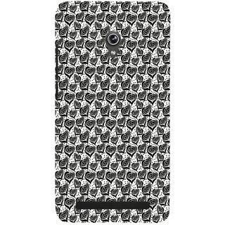 ifasho Modern Art Design Pattern with Lot Of small heart with +sign Back Case Cover for Asus Zenfone 6