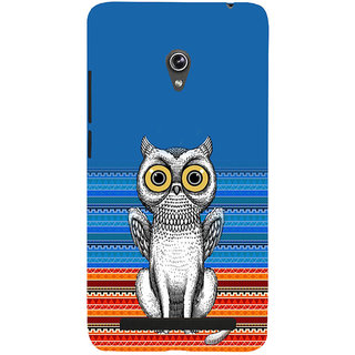 ifasho ModernBird and Owl Pattern Back Case Cover for Asus Zenfone 6