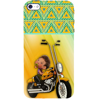 ifasho baby riding bike animated design Back Case Cover for Apple iPhone 5