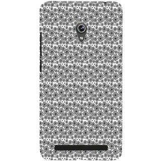 ifasho Animated Pattern black and white flower Back Case Cover for Asus Zenfone 5