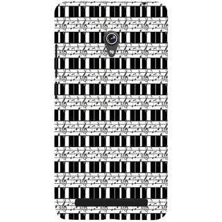 ifasho Animated Pattern design black and white music symbols and lines Back Case Cover for Asus Zenfone 6