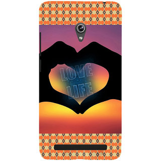 ifasho Love life heart shape made by hand  Back Case Cover for Asus Zenfone 6