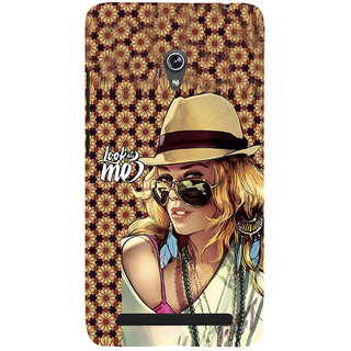 ifasho Look at me Girl Back Case Cover for Asus Zenfone 6