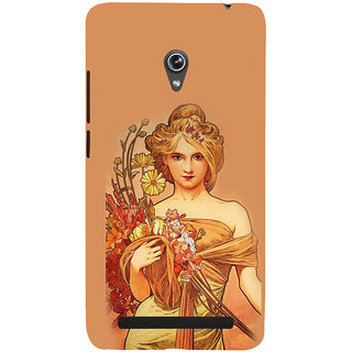 ifasho Young Girl with flower in hand Back Case Cover for Asus Zenfone 5