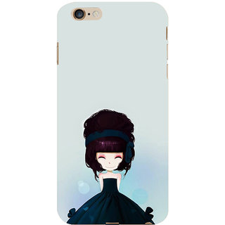 ifasho Cute Girl with Ribbon in Hair Back Case Cover for   6S Plus