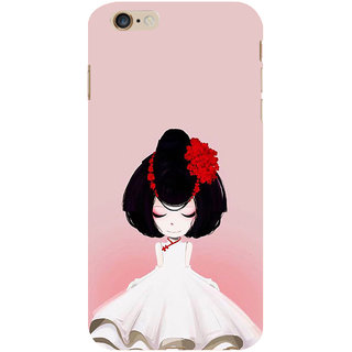 ifasho Girl  with Flower in Hair Back Case Cover for Apple iPhone 6S Plus