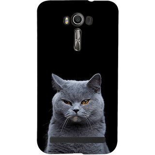 ifasho black Cat Back Case Cover for Asus Zenfone 2 Laser ZE601KL