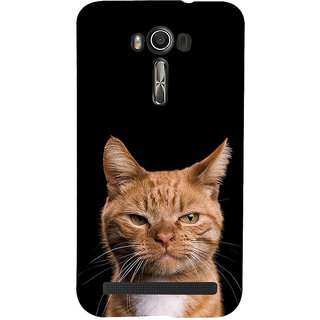 ifasho Brown cat Back Case Cover for Asus Zenfone 2 Laser ZE601KL