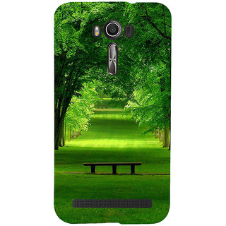 ifasho Green grass road with 3Dees on the two side Back Case Cover for Asus Zenfone 2 Laser ZE601KL