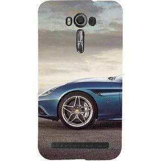 ifasho Stylish long Car wheel Back Case Cover for Asus Zenfone 2 Laser ZE601KL