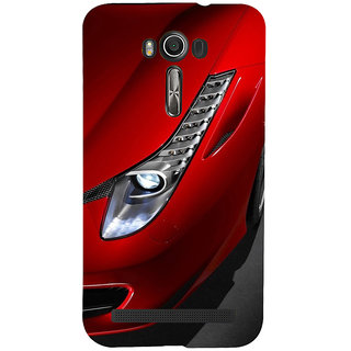 ifasho Red Royal colour Car Back Case Cover for Asus Zenfone 2 Laser ZE601KL