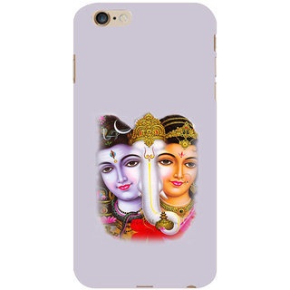 ifasho Siva Parvati and ganesh Back Case Cover for   6S Plus