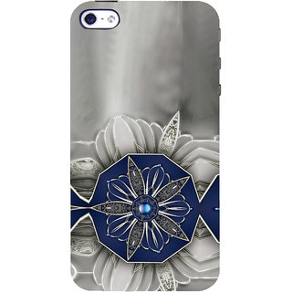 ifasho Animated Pattern design black and white diamond in royal style Back Case Cover for Apple iPhone 5