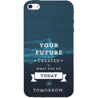 ifasho Good Quote On Future Back Case Cover for   5