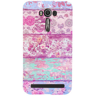 ifasho Modern Art Design painted flower on wood Back Case Cover for Asus Zenfone 2 Laser ZE601KL