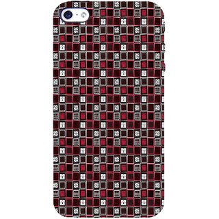 ifasho Colour Full Square Pattern Back Case Cover for Apple iPhone 5