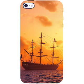 ifasho Ship in See at sunset Back Case Cover for   5