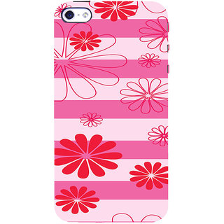 ifasho Modern Art Design animated cloth Pattern of flower Back Case Cover for   5