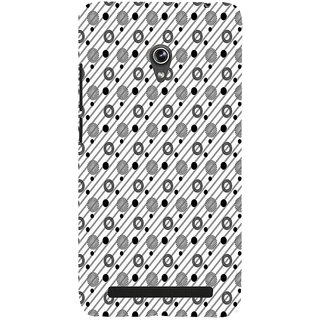 ifasho Animated Pattern design black and white flower in royal style Back Case Cover for Asus Zenfone 6