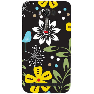 ifasho Animated Pattern birds and flowers Back Case Cover for Asus Zenfone 2 Laser ZE601KL