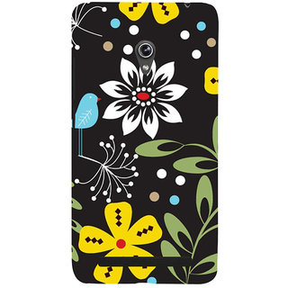 ifasho Animated Pattern birds and flowers Back Case Cover for Asus Zenfone 6
