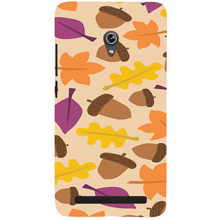 ifasho Animated Pattern colrful design leaves and nuts Back Case Cover for Asus Zenfone 6